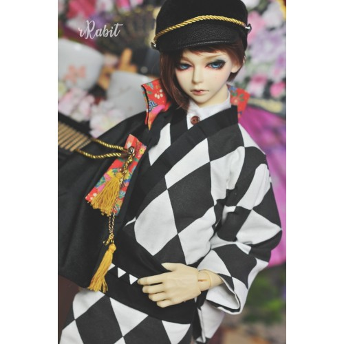1/3Boy/SD17 Kimono - B&W Diamond