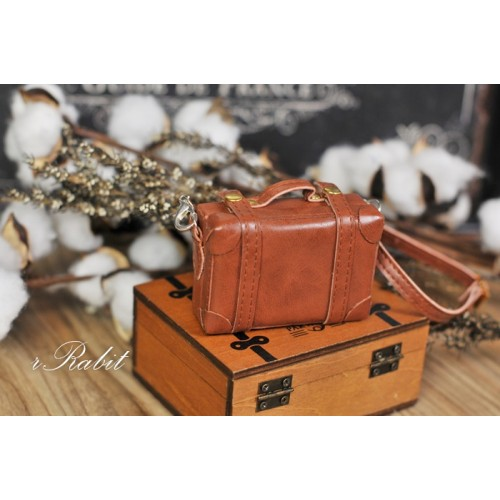 1/3 & 1/4 & 1/6 mini Suitcase -  Caramel