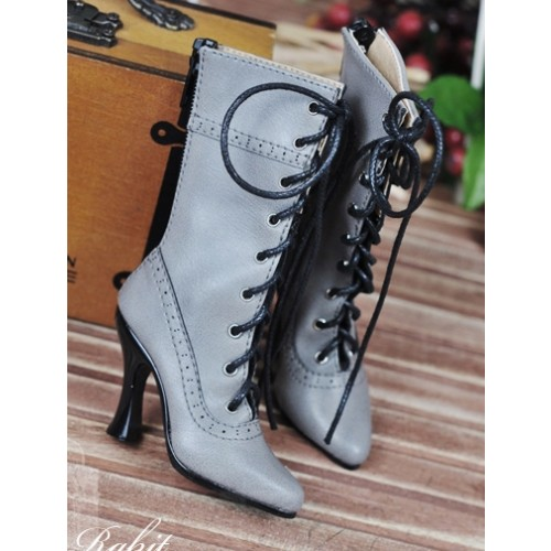 1/3 Girls - SD16/13/10/ DD fit - Antique high heels pumps boot BLS008 - Grey