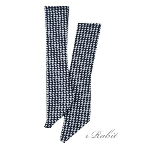 1/3 Boy short socks - AS003 001 (Houndstooth)