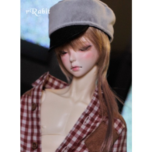1/3 [Velvet Kepi Hat] AS005 002 (Light Grey)