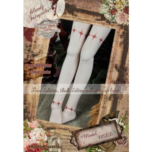 1/4 Socks - ♣Bloody Fairytales♣ BFS171001 Cross marks ☆ (New Slim cutting)