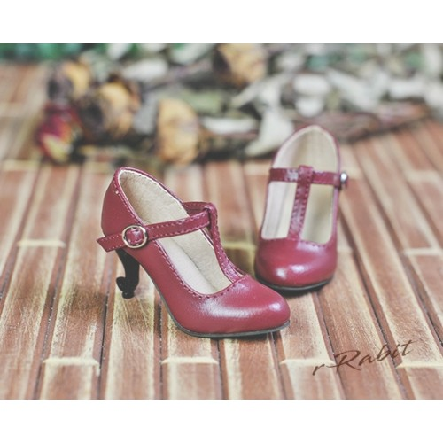 1/4 Highheels/MDD/AP/minifee/Unoa T-straps high heels [BLS009] - Cherry