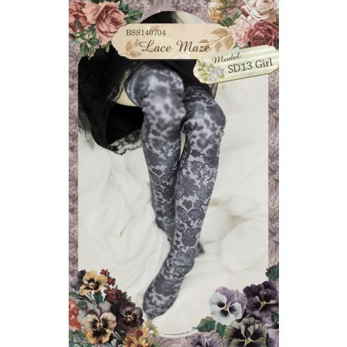 1/3 & 1/4 Socks BSS140704 Lace Maze