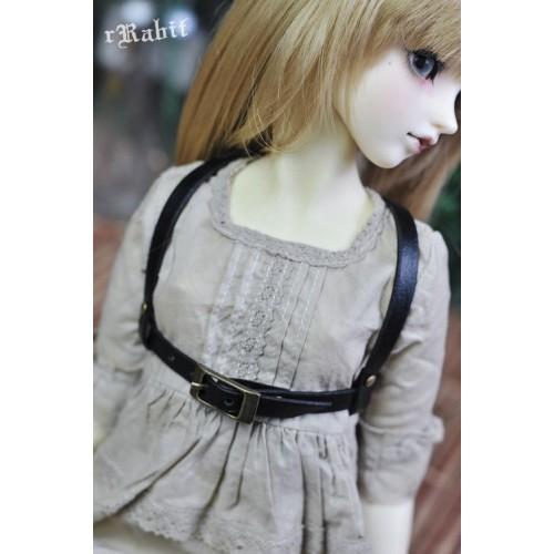 1/3 Girl [Leather Harness- The Belt ] -  Black