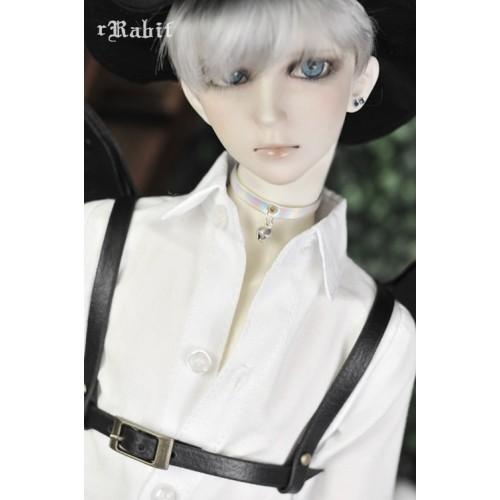 1/3 Girl Leather neck band - Sliver Laser