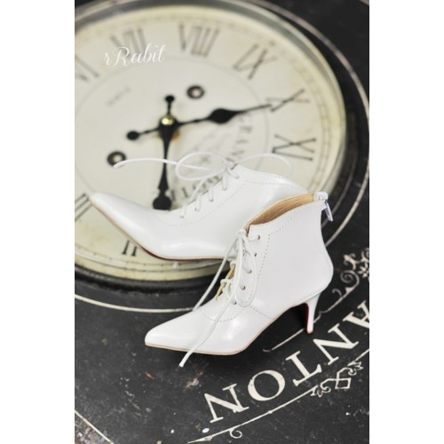 SD17/IP's Girl + Pointed Toe Ankle Boots [Coven Three] - New White