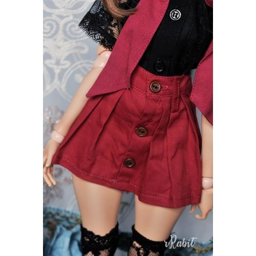 1/4 [Witchcraft Academic] - Paige Skirt - CVZ002 002(Wine)