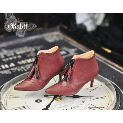 1/3 Boy/IP House Girls/SD17 - Tassel Ankle Boots [DA004] Wine