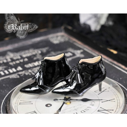 [Pre] 1/3 Boy/IP House Girls/SD17 - Tassel Ankle Boots [DA004] Patent Black