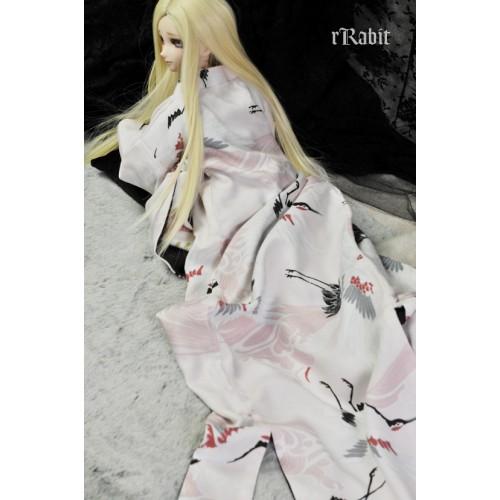 1/3 [百花萬華 ] Oiran Haori 花魁羽織 - 粉鶴 TS003 007