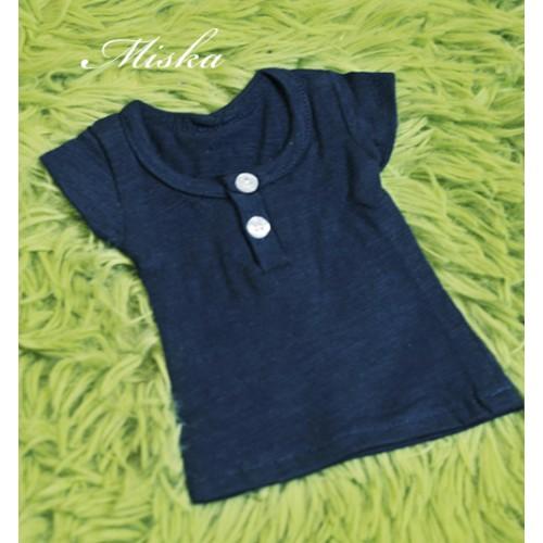 Miska Homme - 1/3 Summer Tee - HEM008 003 (Deep Blue)
