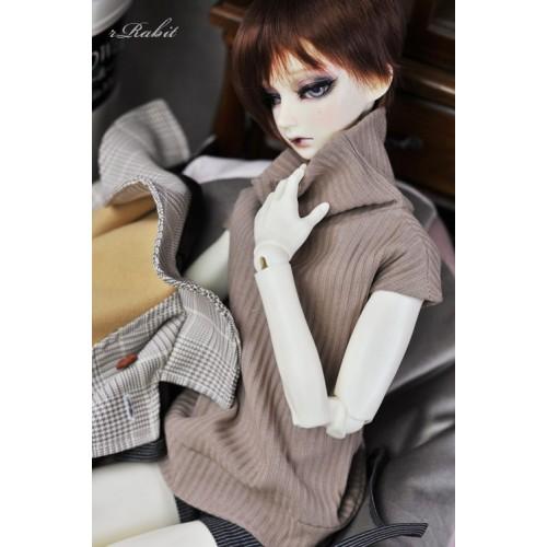 1/3 [Turtleneck sweater] HL042 1905 (chestnut mont blanc)
