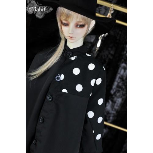 1/3 Boy [Jessie Cold] Flying squirrel sleeve x Irregualr hem shirt - HL044 2003 (B&W Spot Black)