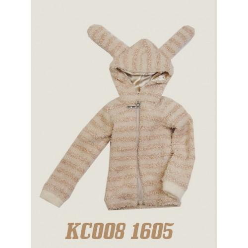 1/4 Plush hoodie coat - KC008 1605 (Boys & Girls)