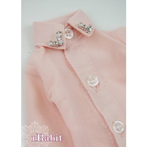 [Limited] 1/4* Chiffon+Stone Shirt - LC009 004 Peach Pink
