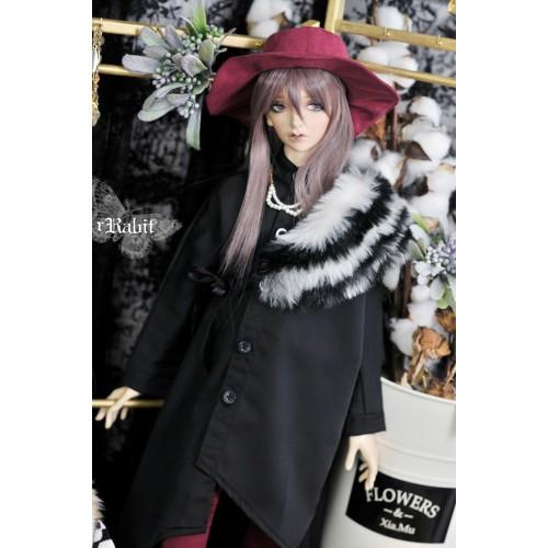 1/3 Boy [Jessie Cold] Flying squirrel sleeve x Irregualr hem shirt - HL044 2001 (Plain Black)