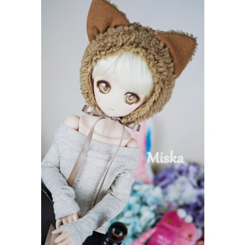 1/3 [Miska] Fuzzy Hat - MSK018 002 Brown Fox