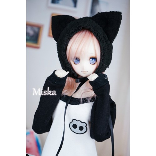 1/3 [Miska] Fuzzy Hat - MSK018 004 - Black Cat