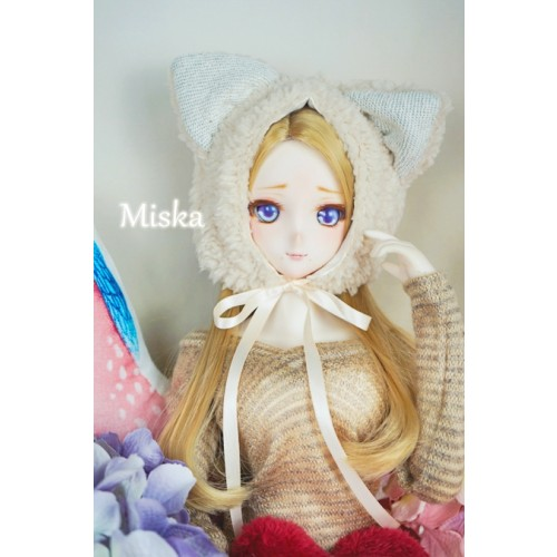 1/3 [Miska] Fuzzy Hat - MSK018 005 - Beige Cat