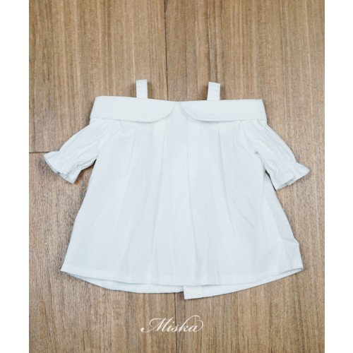 Miska+Lady Blouse MSK028 003 (White Cotton)