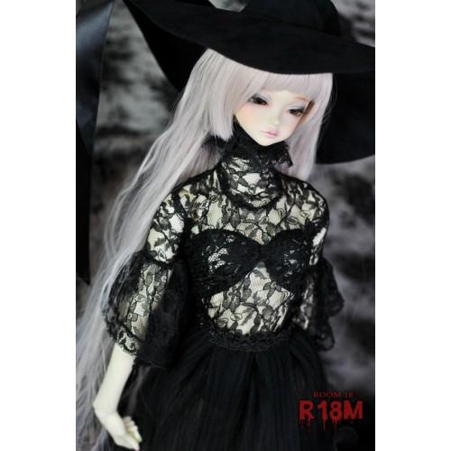 [R18M] 1/3 Girl Gloria Lace Blouse - RM005 001 (Black Flower Lace)