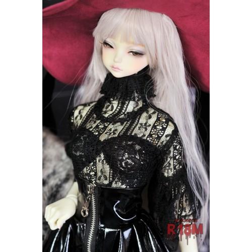 [R18M] 1/3 Girl Gloria Lace Blouse - RM005 003 (Black Stripe Lace)