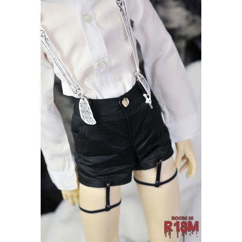 [R18M] 1/3 Girl Shorts w/ bind - RM006 003 (Black Fabric)
