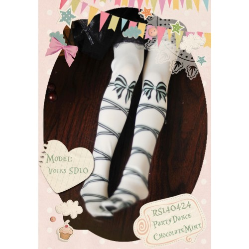 1/3 Socks RS140424 ♥ PartyDance-ChocolateMint