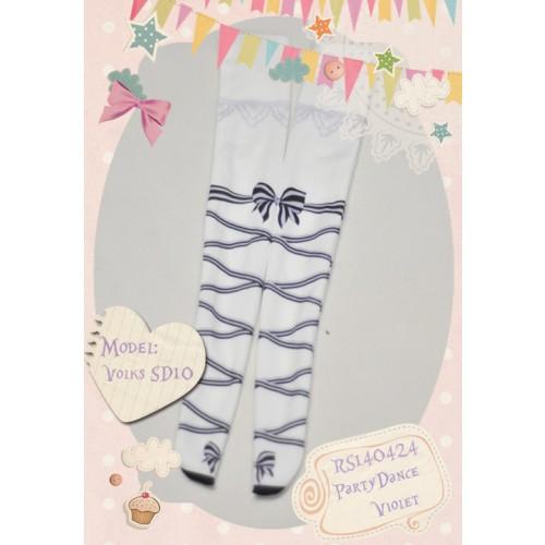 1/3 & 1/4 Socks RS140424 ♥ PartyDance-Violet