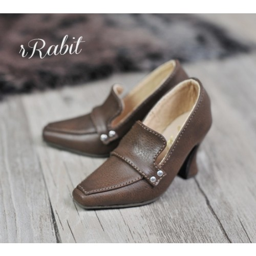 [Pre]IP Women/1/3Boy Highheel Loafers - RSH006 Carob