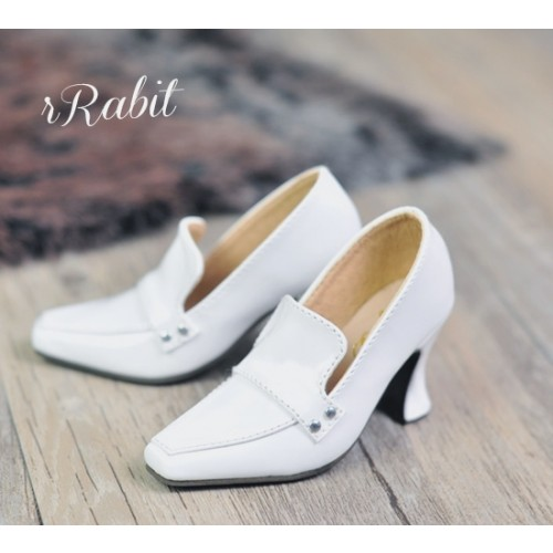 1/3Girl/DD/SD16 Boot- Highheel Loafers - RSH006 White