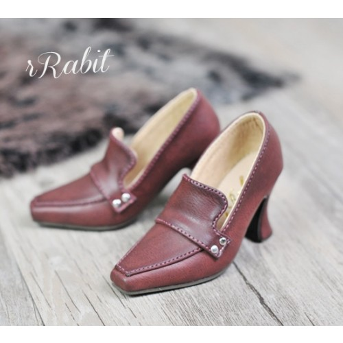 [Pre]IP Women/1/3Boy Highheel Loafers - RSH006 Wine