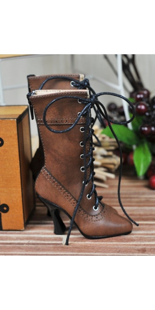 1/3 Girls - SD16/13/10/ DD fit - Antique high heels pumps boot BLS008 - DustyRed