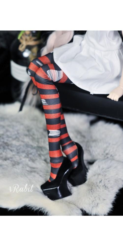 1/3 Girl/DD -[Coven Socks] - Rotten Stripe (Red) - CVS190902