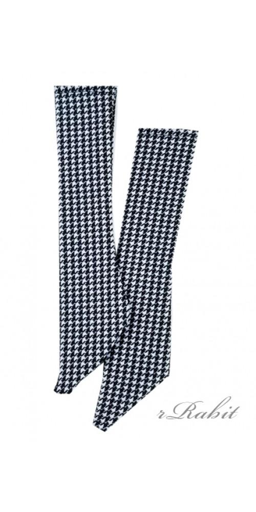 1/3 Boy short socks - AS003 001 (Houndstooth)