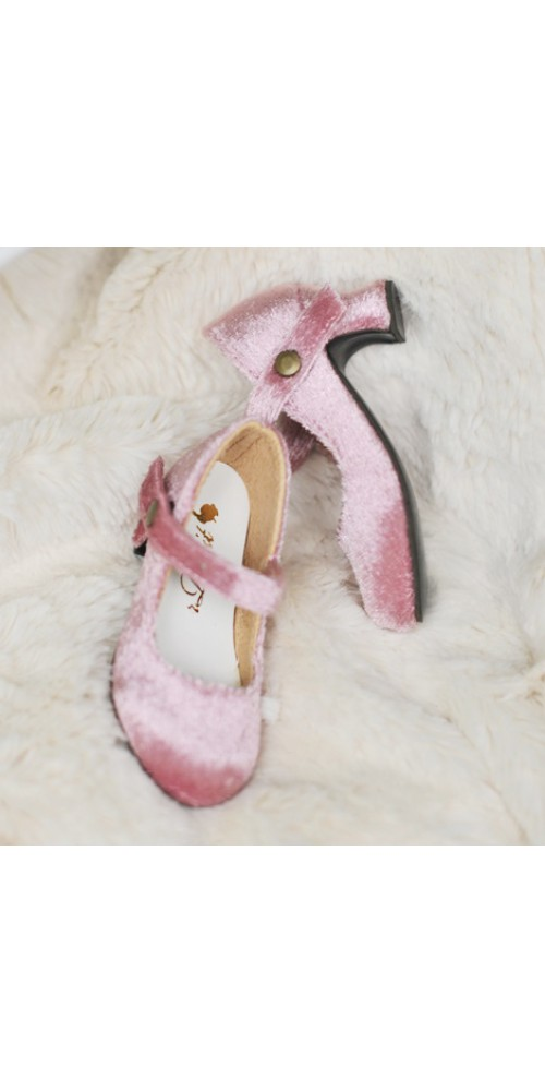 1/4 MSD Girl Velvet Wine Glass Heels  [BLS006] Pink