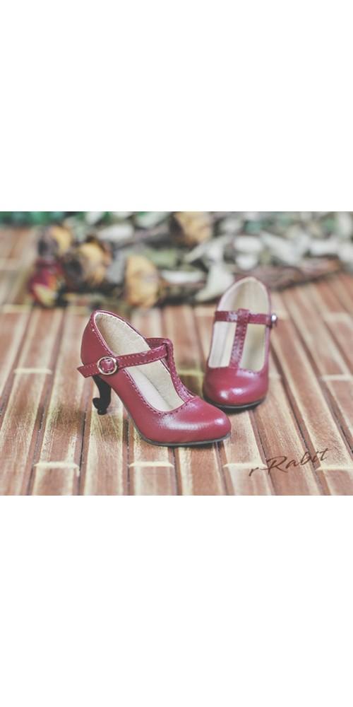 [Pre]1/4 Highheels/MDD/AP/minifee/Unoa T-straps high heels [BLS009] - Cherry