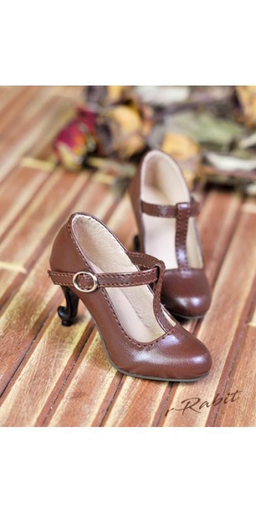 [Pre]1/3Girls Highheels/DD T-straps high heels [BLS009] - Candy Brown