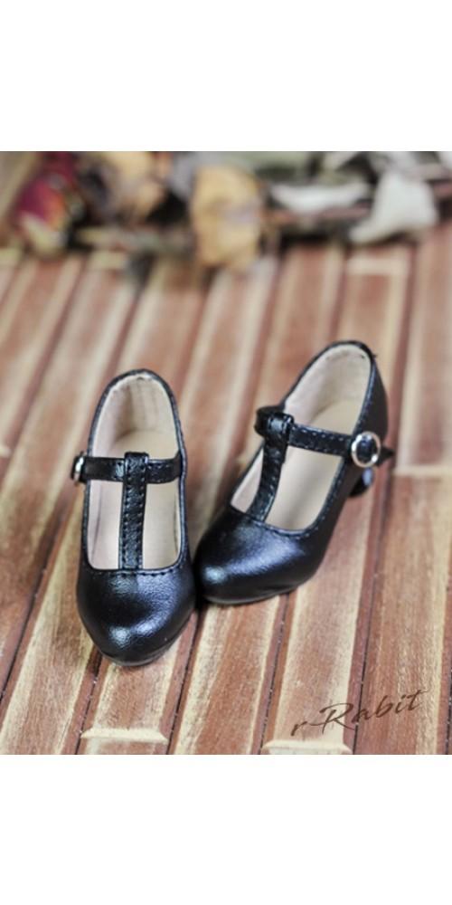 [Pre]1/4 Highheels/MDD/AP/minifee/Unoa T-straps high heels [BLS009] - Black