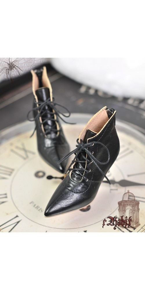 [Pre] 1/3 Girls Highheels /DD+ Pointed Toe Ankle Boots [Coven Three] - Dark Night