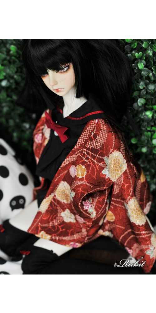 [Limited] 1/3 Haori Coat 羽織 - Red Lake