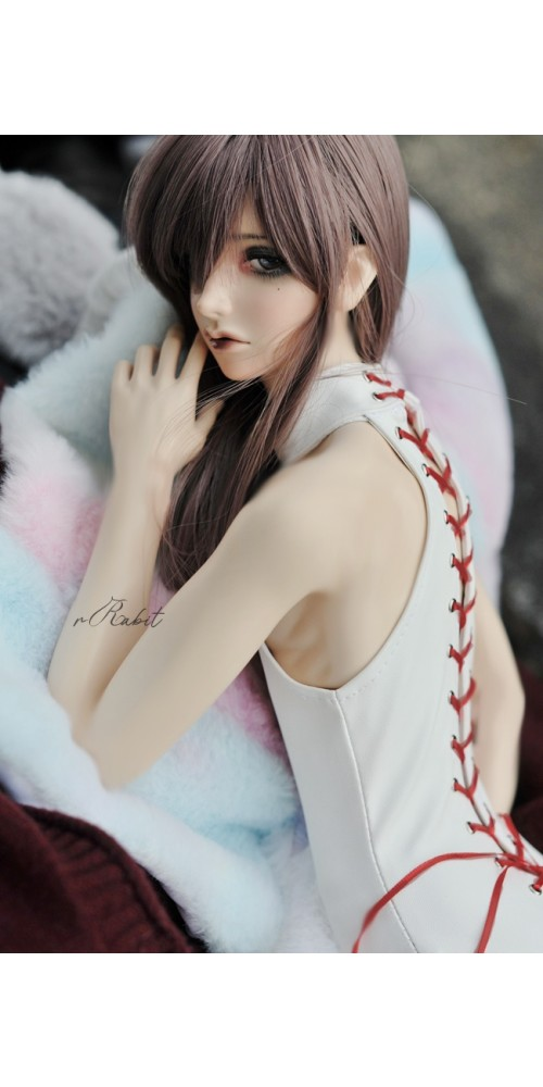 SD17/popo68 Latex swimsuit DF004 003 (White leather)