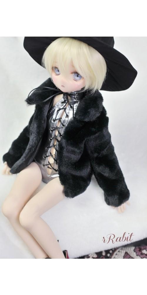 1/4 Sugar Fur Coat - DF003 1901 (Black)