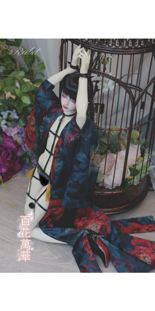 1/3 [百花萬華 ] Oiran Haori 花魁羽織 - 彩藍 TS003 002