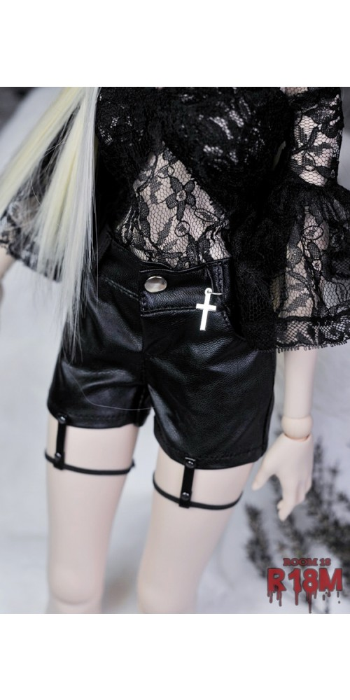 [R18M] 1/3 Girl Shorts w/ bind - RM006 001 (Regular black leather)