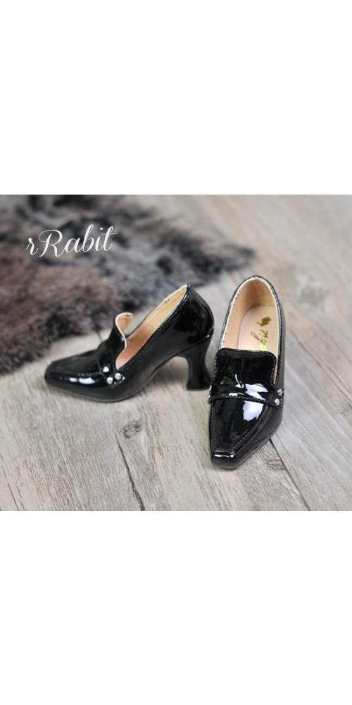 [Pre]IP Women/1/3Boy Highheel Loafers - RSH006 PatentBlack