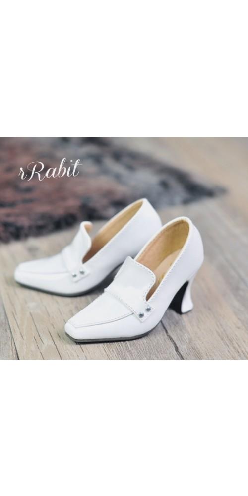 [Pre]IP Women/1/3Boy Highheel Loafers - RSH006 White