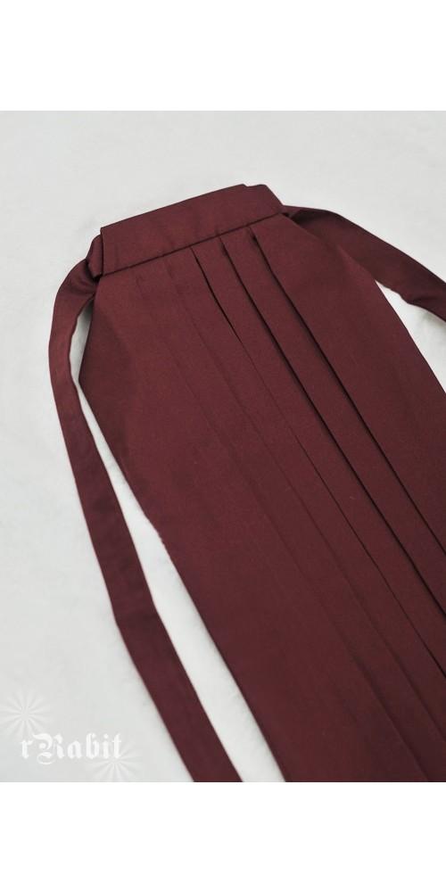 1/4 Hakama 行燈袴 (Japanese Bottom Dress) TS001 1704 (Wine)
