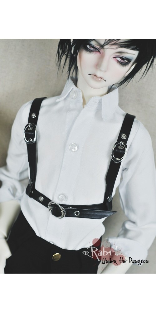 1/3 Leather Harness - Chest Cage 1 (Black) - UDAS001
